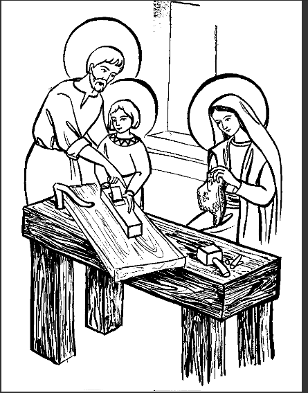 Holy Family Coloring Page La Sainte Famille
