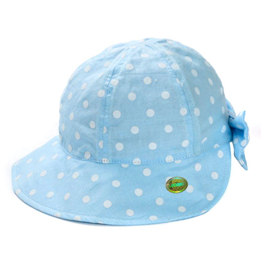 Girl Kid Cute Dotted Ribbon Bow Bucket Hat Blue L Size Ribbon Bows Hats Bows