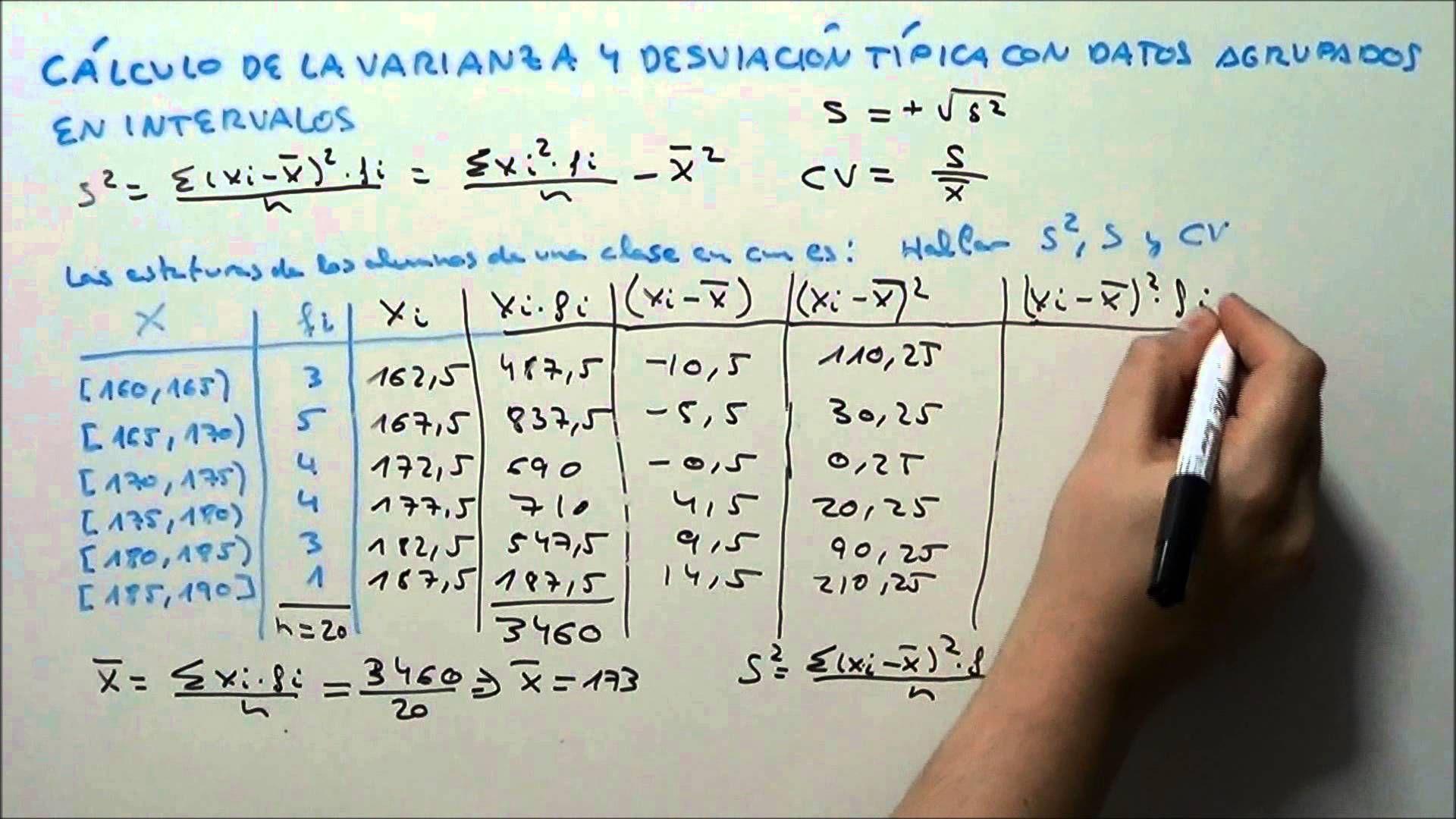 En Este Video Vamos A Calcular La Varianza Y La Desviacion Tipica