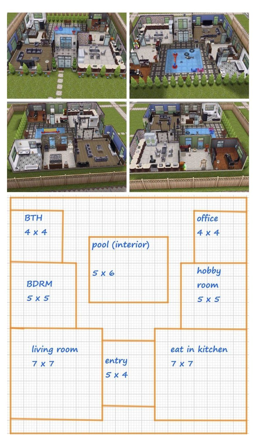 Sims Freeplay House Design Small Simple House Design Smallsimplehousedesign Sims Freeplay Houses Sims 4 House Plans Sims House Design