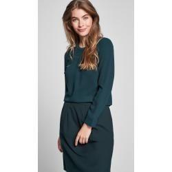 Spring fashion for women -  Bala crepe blouse in dark green JoopJoop! Bala crepe blouse in dark gree...