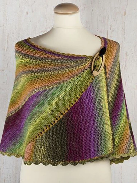 Green Knitted Scarves & Shawls