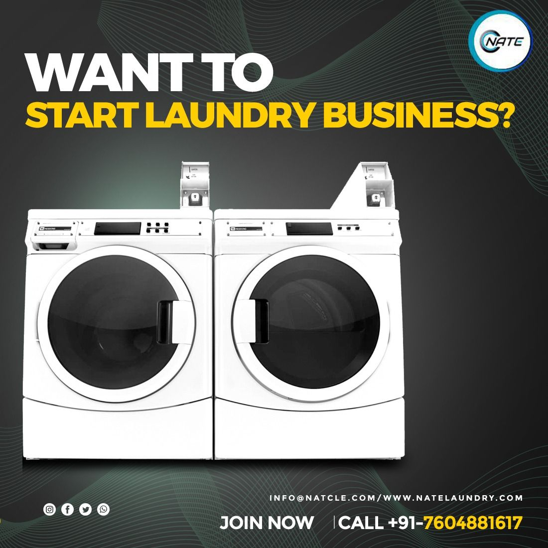 Want To Start Laundry Business Reach Nate Commercial Laundry