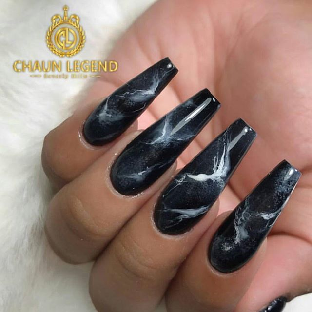 Coffin shaped black marble design. SO stunning and stylish ...