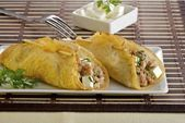 Crepes stuffed with meat that you will love A very easy and delicious dish   crepes salados