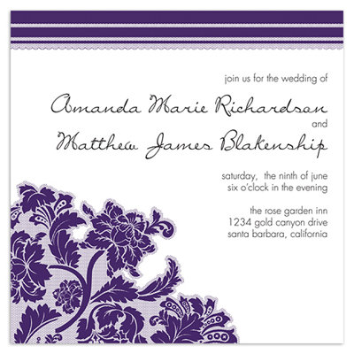 Lovely Lace Invitations