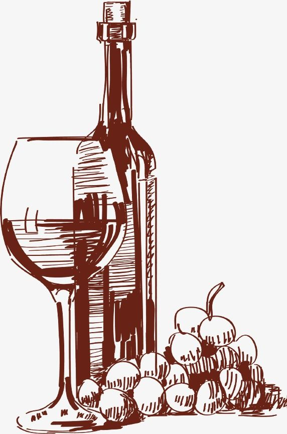 Hand Drawn Sketch Tall Glass Of Red Wine Bottles Wine Glass Drawing Wine Glass Art Wine Bottle Drawing