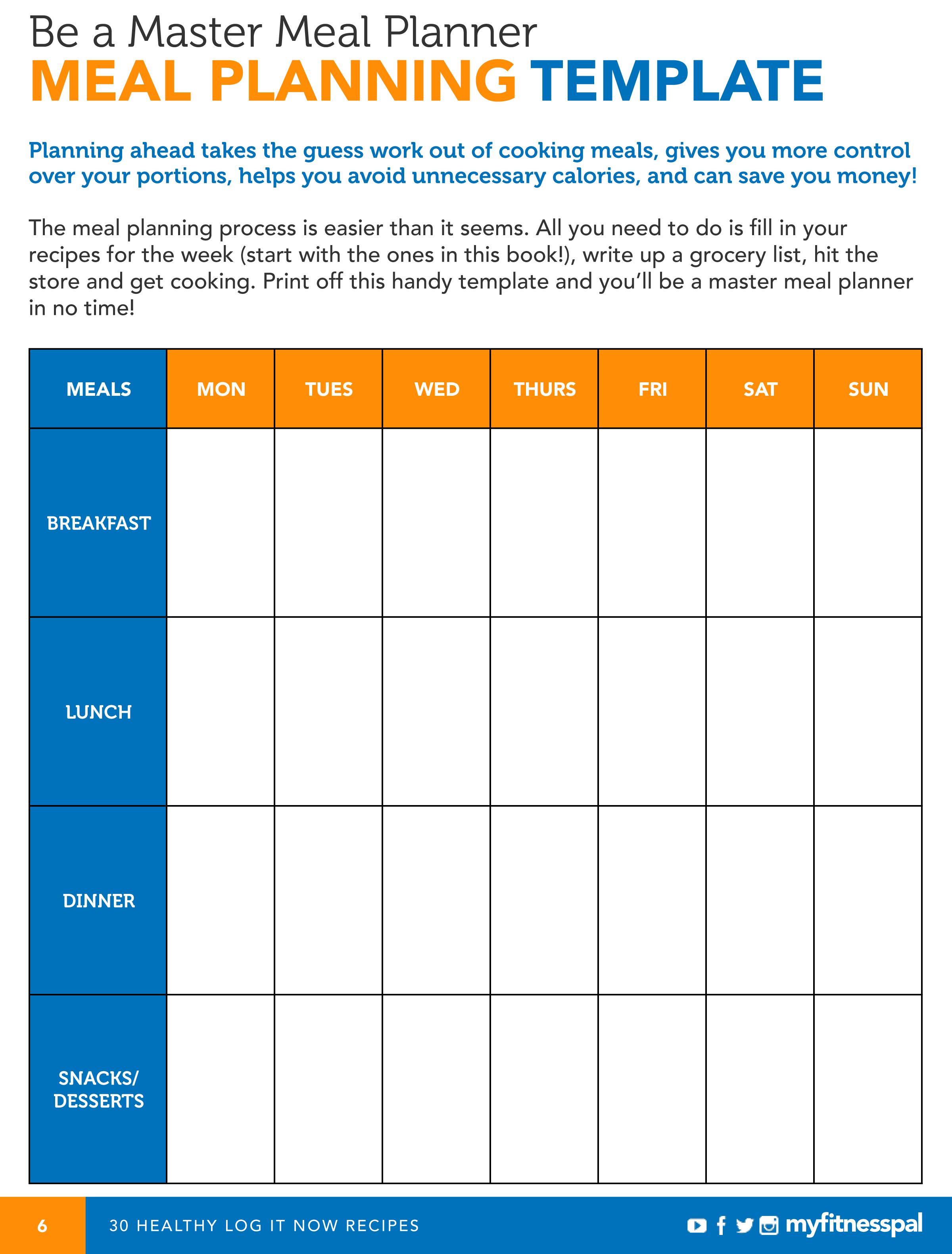 mealplanningtemplate.png (2400×3162) Meal planner