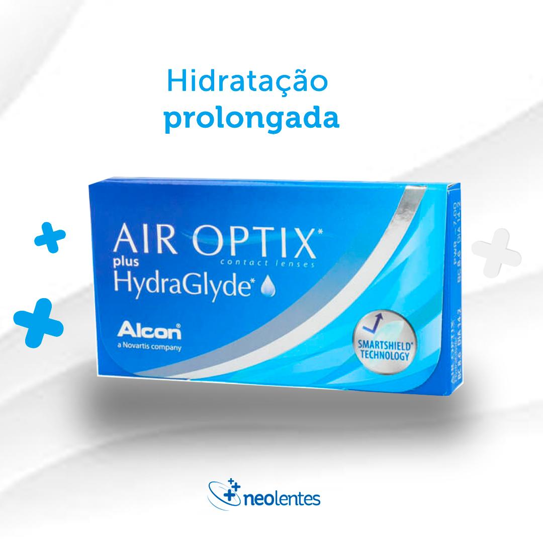 As lentes de contato AIR OPTIX® AQUA apresentaram a menor