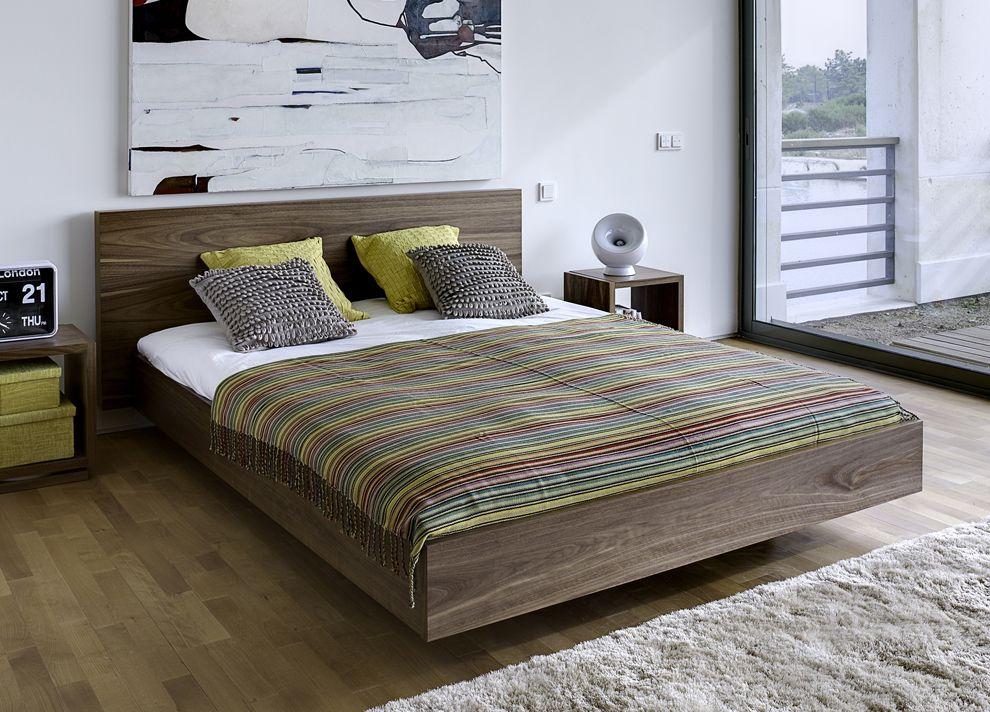 Nice super king style Diy platform bed, Floating bed