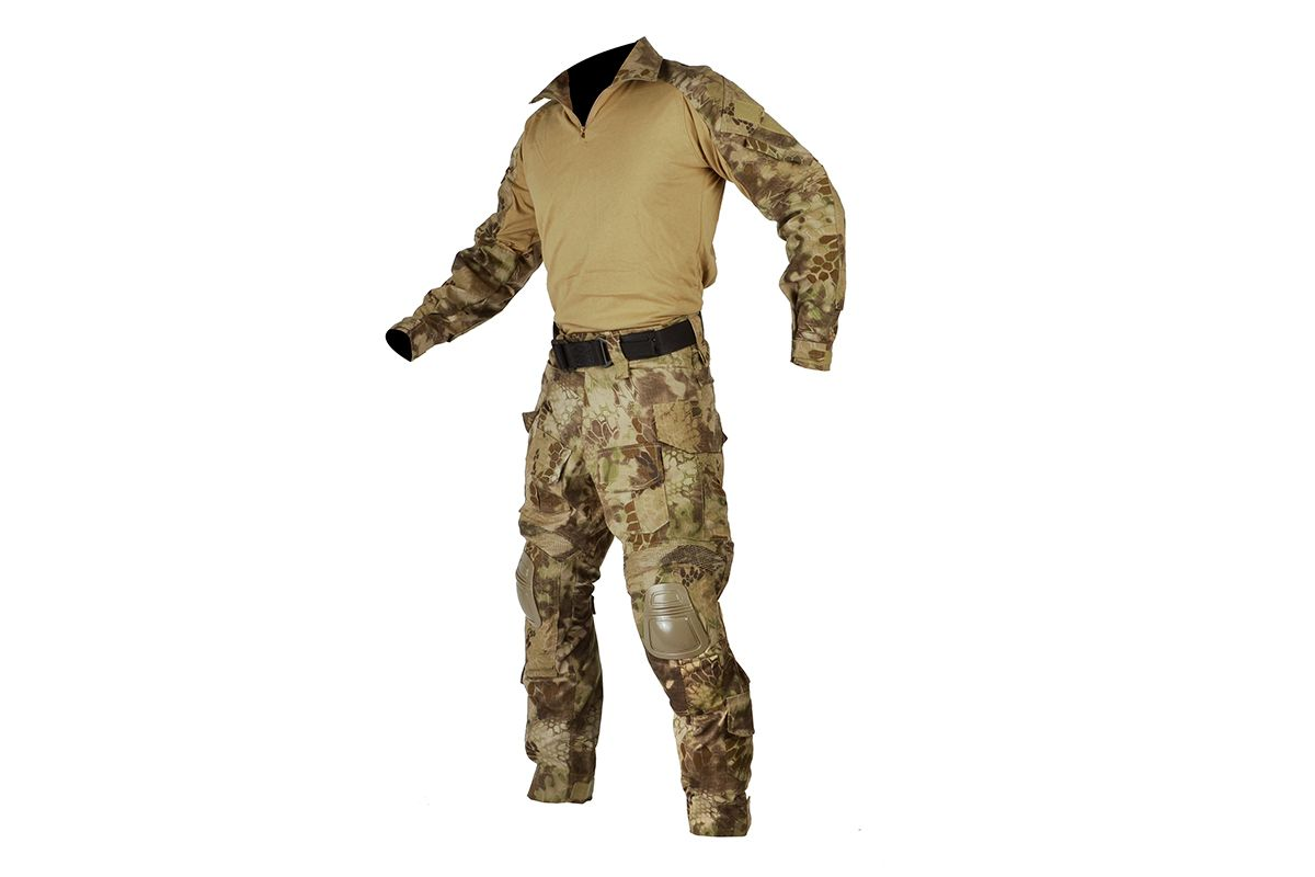The War Wolf Gen 3 Combat Shirt and Pants is designed to be worn under body armor and features integrated DEVGRU style knee pads with no slip cap!