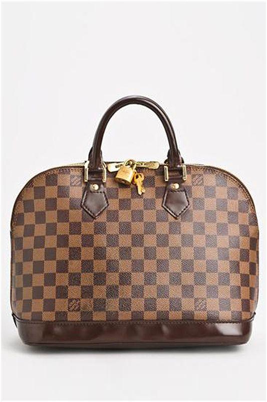 e8a27ea09a56 Louis Vuitton Pre-Owned Damier Ebene Alma Dome Satchel - Enviius ...