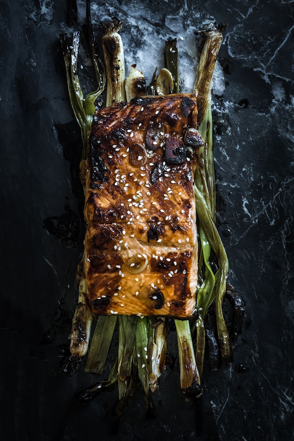 Broiled Salmon With Scallions And Sesame Recipe Salmon
