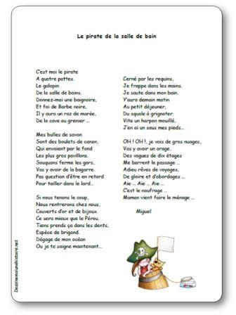 Poesie Le Pirate De La Salle De Bain Poesie Illustree Le Pirate De La Salle De Bain Pirate Comptines Bains