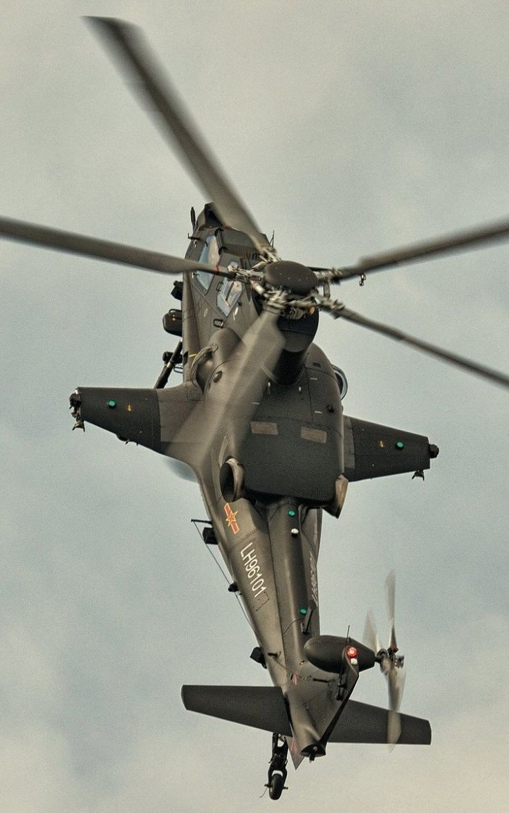 Russian Z-10 Attack Helicopter (anti-tank warfare missions but has secondary air-to-air capability as well)