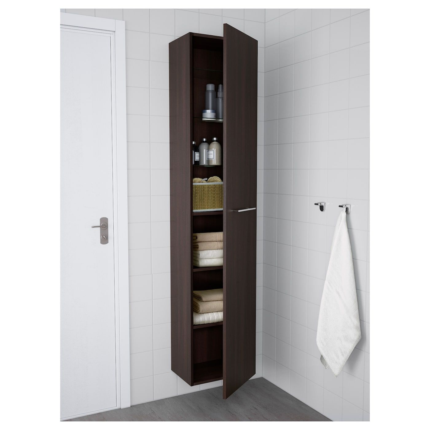Godmorgon High Cabinet Black Brown 15 3 4x12 5 8x75 5 8