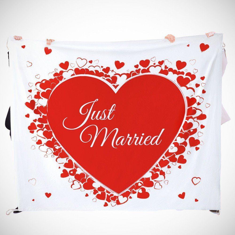 Hochzeitslaken Mit Romantischem Motiv Hochzeit Spiele