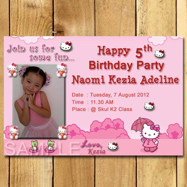 Kartu Undangan Ulang Tahun Hello Kitty Tema Mainan Invitations