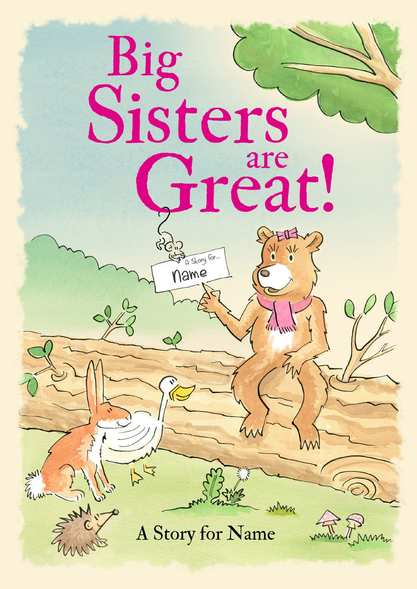 Big sisters are great book sisters book personalized