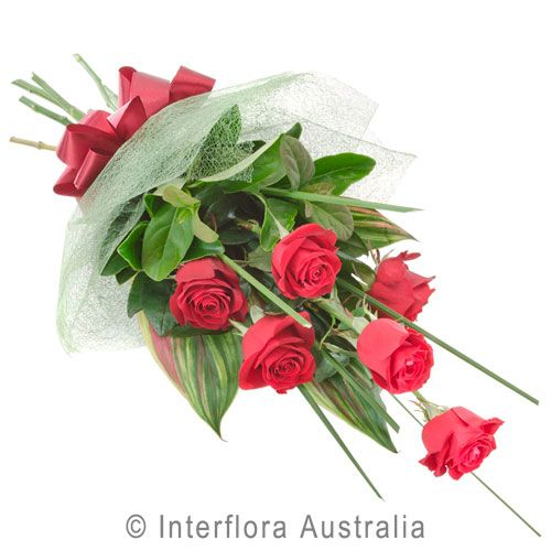Flat Back Bouquet Six Roses 81 00 Park Avenue Florist The Art Of Flower Arranging Red Rose Bouquet Valentines Flowers Flower Delivery