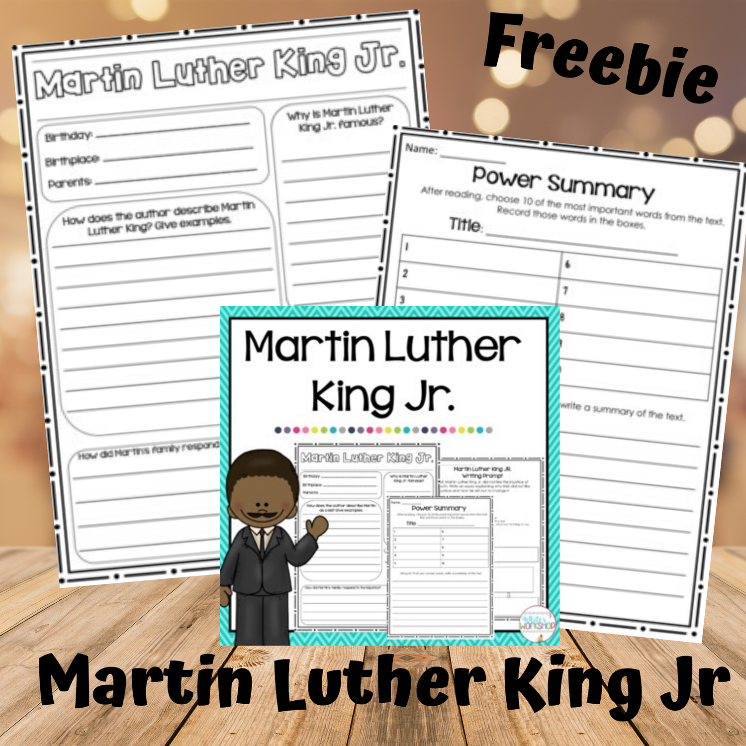 Martin Luther King Jr Activities For 2nd 3rd And 4th