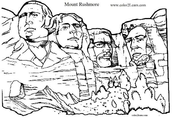 Mount Rushmore Coloring Page Coloring Pages Coloring Pages For