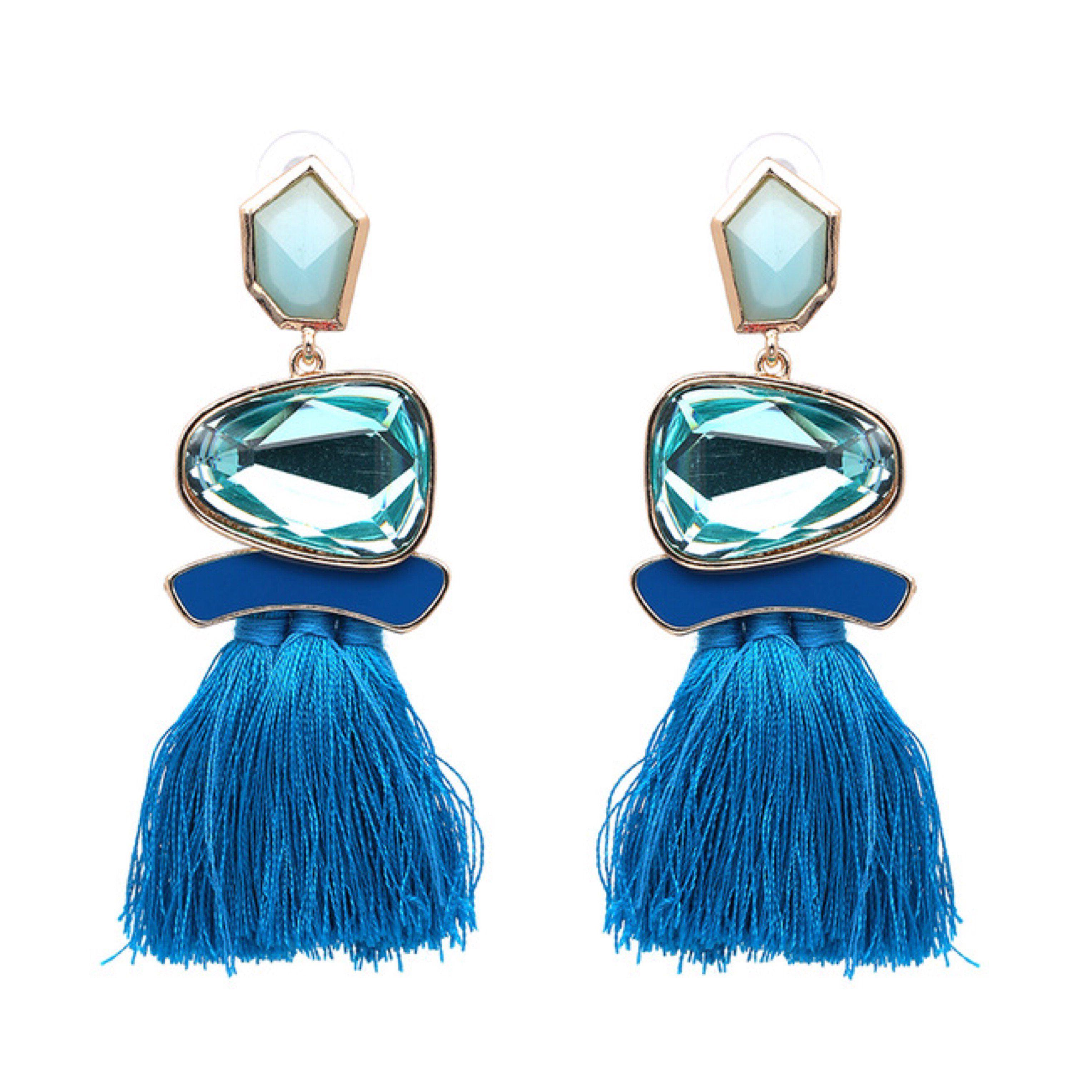 Women Boho Pom Pom Ball Tassel Long Ear Stud Dangle Drop Earring Jewelry Fashion