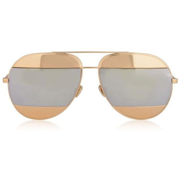 afdd749441b0 Christian Dior Split1 Sunglasses ($495) ❤ liked on Polyvore featuring  accessories, eyewear, sunglasses, rose gold, christian dior eyewear, christian  dior, ...