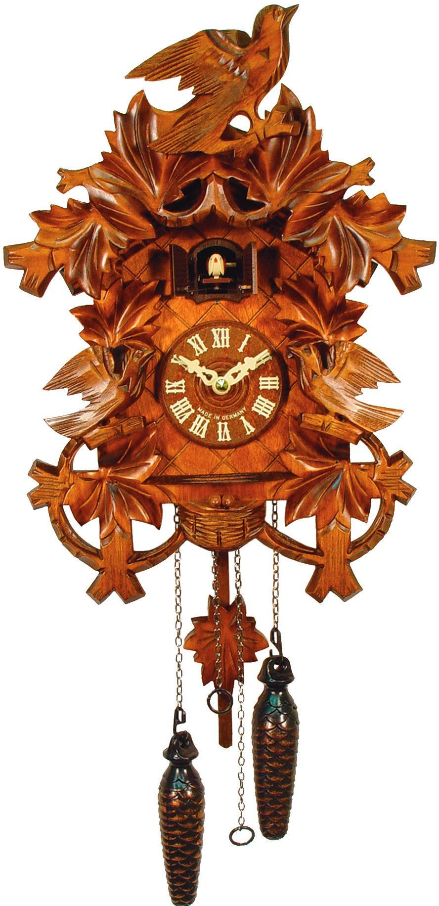 Black Forest Carved German Cuckoo Clock
