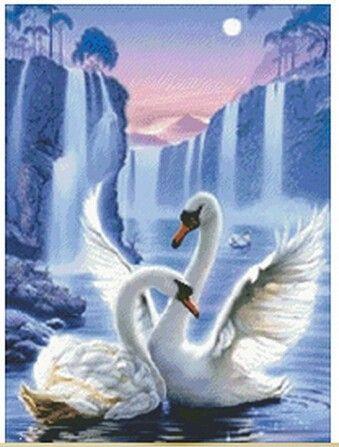 Full diamond Swan Lake Diamond painting Of Cross Stitch Kit FOR home decor