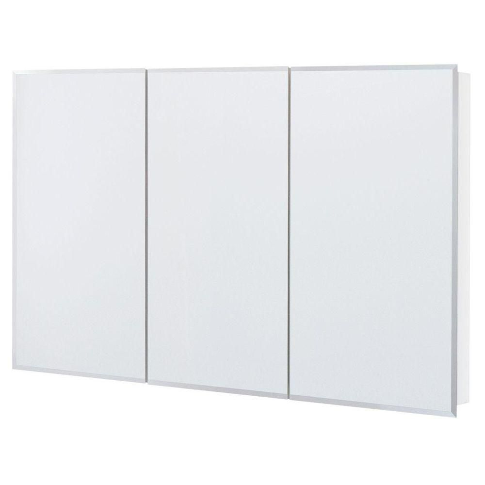 Glacier Bay 48 In. X 30 In. Surface Mount Mirrored Medicine Cabinet T48 BM    The Home Depot $150