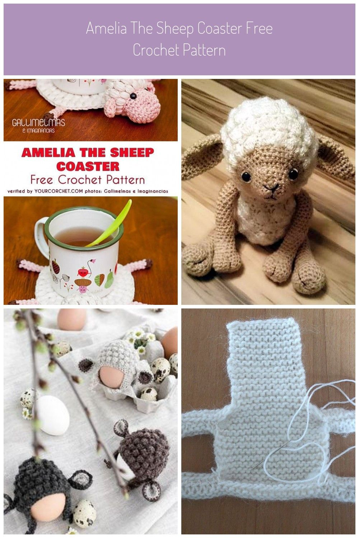 Amelia The Sheep Coaster Free Crochet Pattern Crochet
