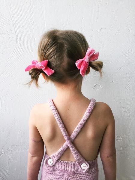 Jessica Garvin X Free Babes Bubblegum Hand Tied Pigtail Set Free Babes Handmade Classic Bows For Your Little Girls Free Spirited Style
