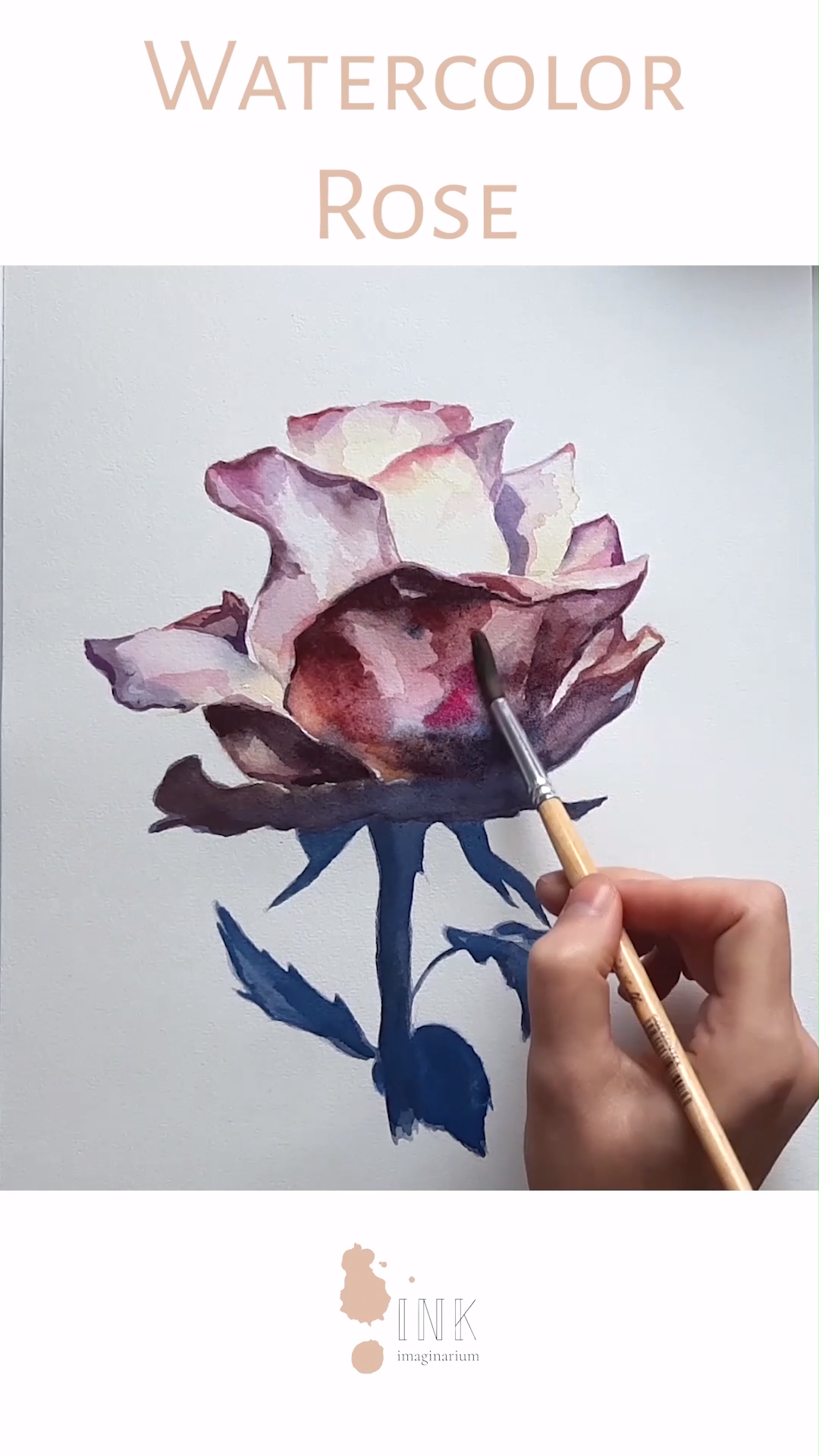 Photo of Watercolor Rose Painting – Time lapse video