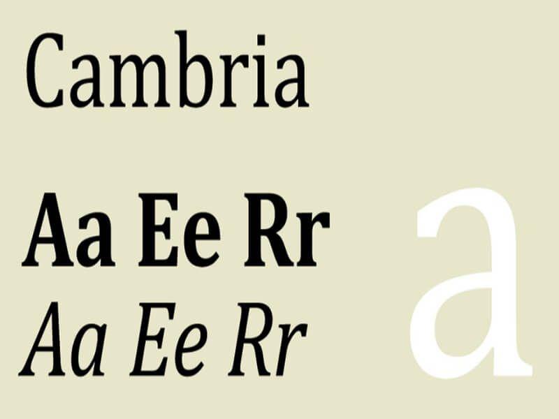 Cambria Font Free Download - Fonts Empire | Cambria Font