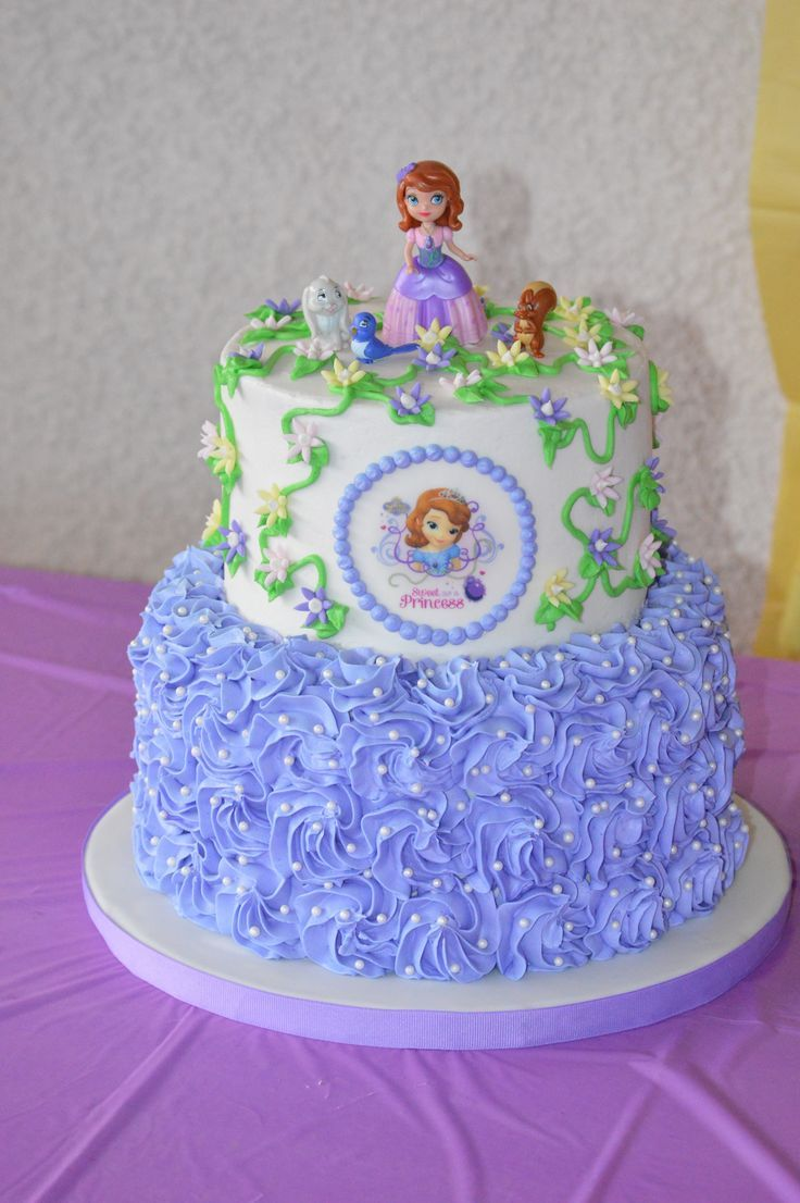Image Result For Sofia The First Birthday Cakes Buttercream
