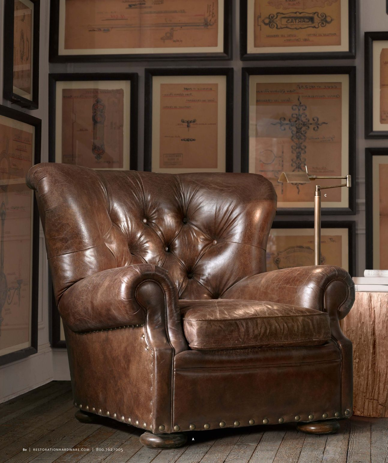 $2165 with down seat Lancaster Leather Recliner Restoration