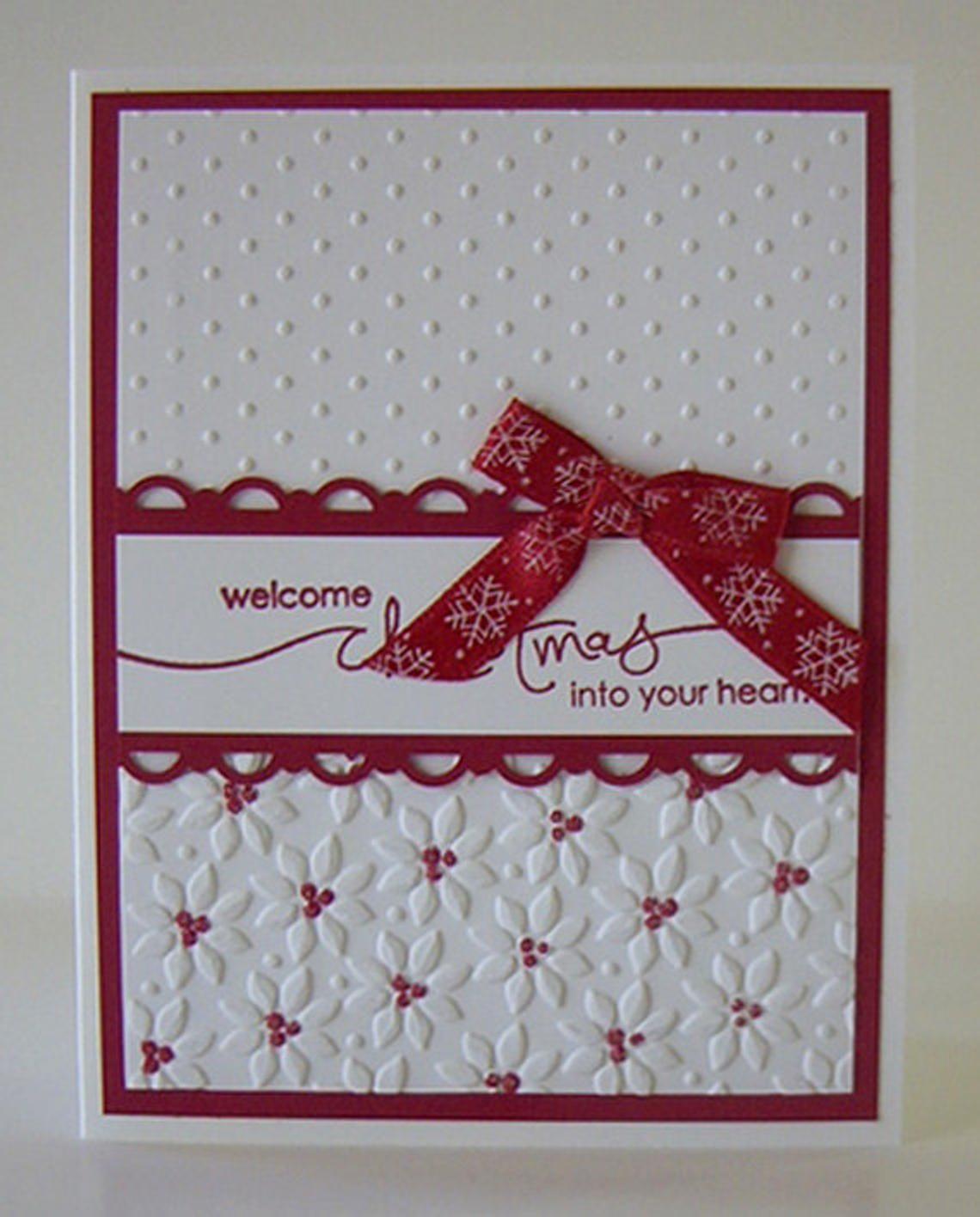 Double Embossed Christmas Card Kit | Embossed christmas ...