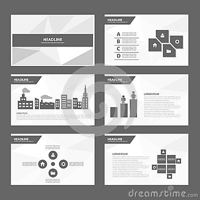 Black white Abstract Brochure report flyer magazine presentation - black and white flyer template