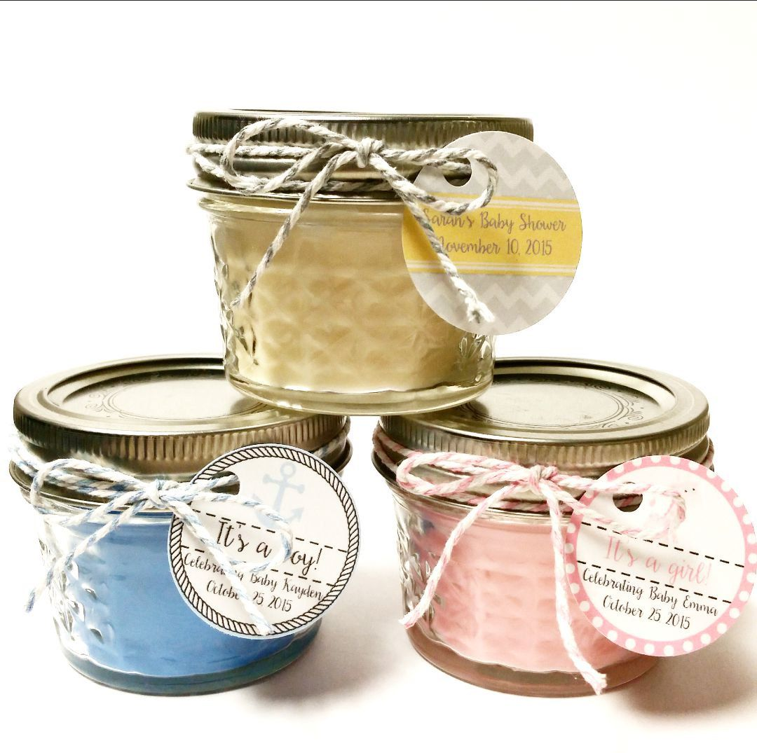 Rustic Favors Baby Shower Candles Custom Baby Shower Favor Mason Jar Favors Nautical Baby Shower 50 Baby Shower Favor Candles