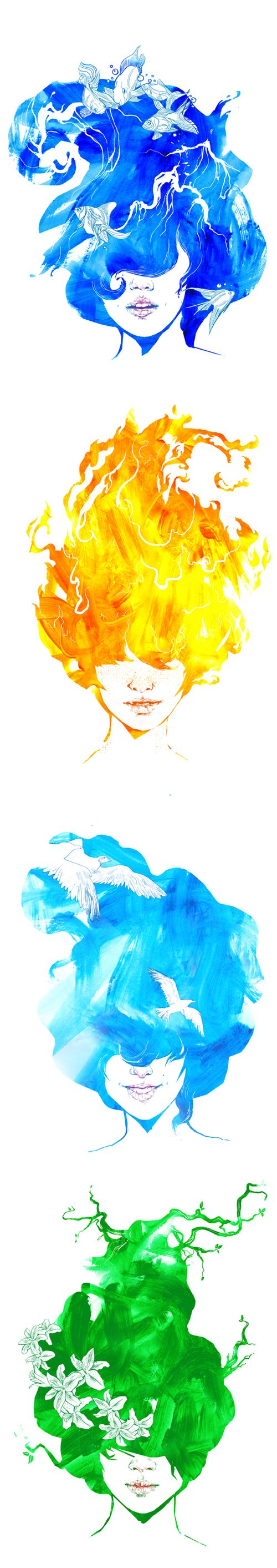 What A Gorgeous Interpretation Of The 4 Elements With Images