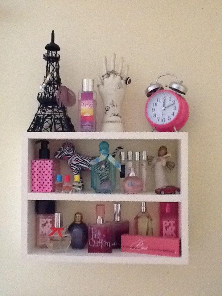 Perfume Shelf #storage #bathroom #bedroom #closet #wall #shelf #perfume