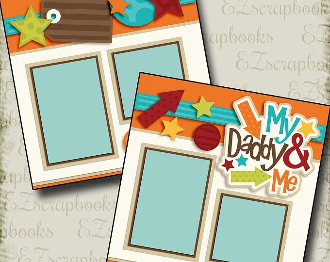 My Daddy and Me Girl - Mother's Day - 2 Premade Sc