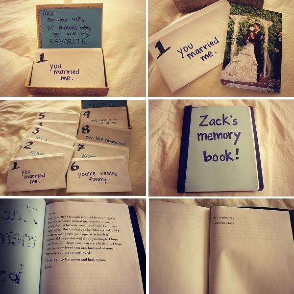 30th Birthday Gift Idea 30 Reasons Why I Love You Plus Memory Book Such A Great Project For Any Husband Gifts