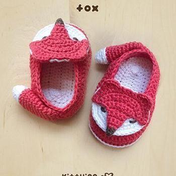 Crochet Pattern Fox Baby Booties Fo Picioruse Ilinca Pinterest