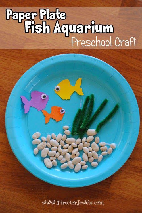 Paper Plate Fish Aquarium Craft | Preschool Crafts | Easy Tutorial ...