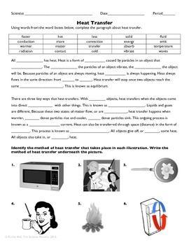 Heat Transfer Practice Worksheet | Heat transfer, Science ...