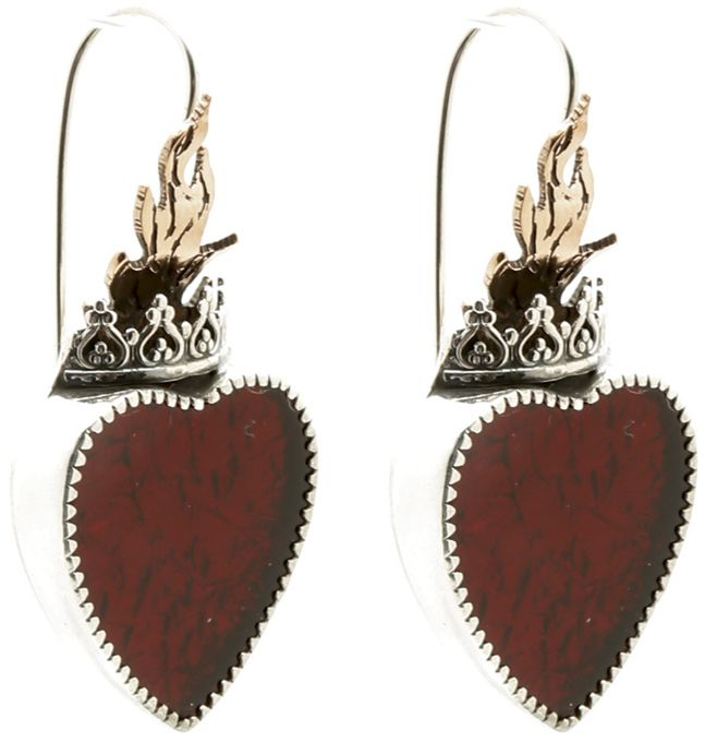 Wanda Lobito Silver Heart Earrings