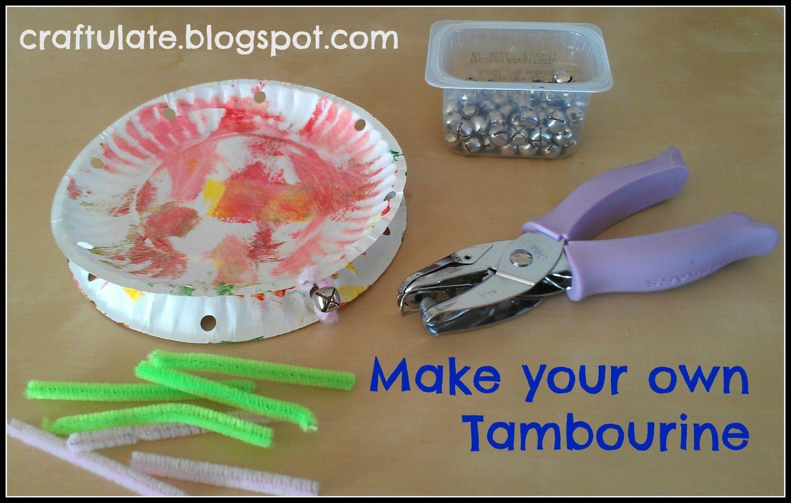 Craftulate make your own tambourine kids pinterest craft