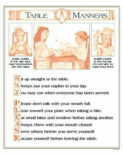 Table manners etiquette pinterest all tables and for 10 good table manners